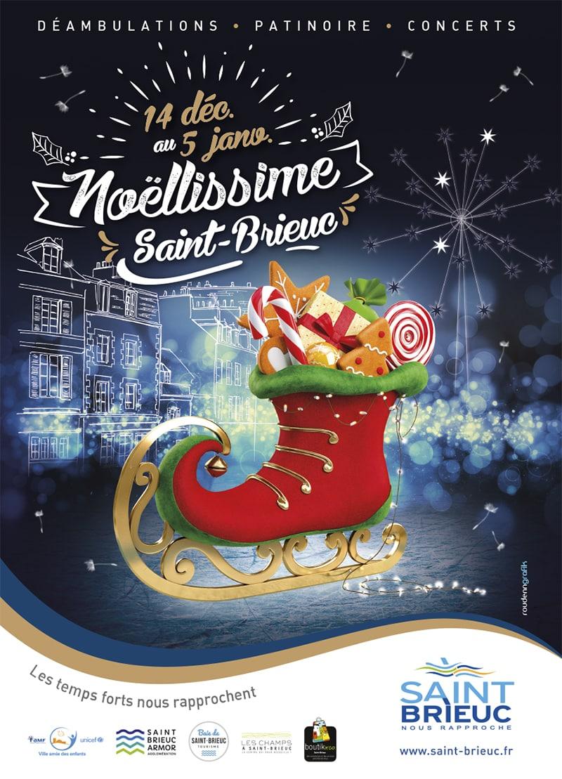 Compagnie Belizama Marché de Noël Saint-Brieux 26 Décembre 2019.