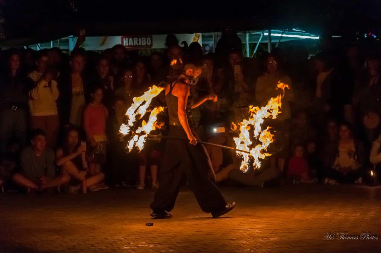 spectacle de feu jongleur de feu mariage médiéval bretagne